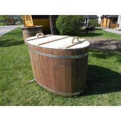 couvercle ovale en bois